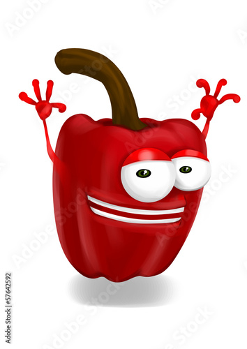 Happy pepper paprika