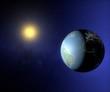 Mondo terra sole globo America Europa Africa luci città