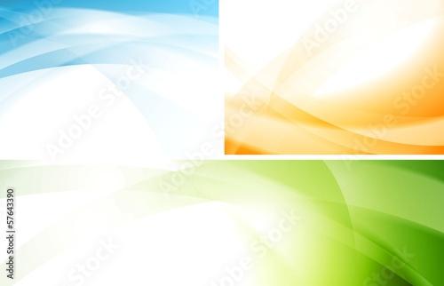 Wavy vector backgrounds set
