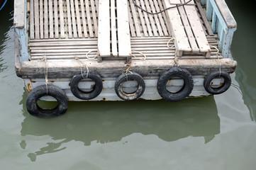 wooden tug boat