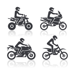Set of icons - motosport