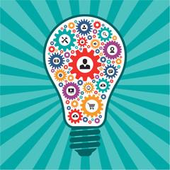 Infographic Concept - Creative Idea Vector Lamp