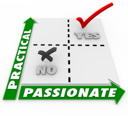 Passionate Vs Practical Choice Matrix Best Option