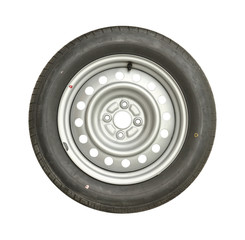 Car wheel isolated on white background