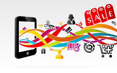 Online shopping using internet connected mobile phones