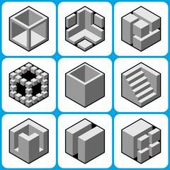 cube icons set 2