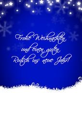 Weihnachtskarte mit Glückwunsch