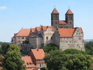 Blick auf das Quedlinburger Schloss(Harz)