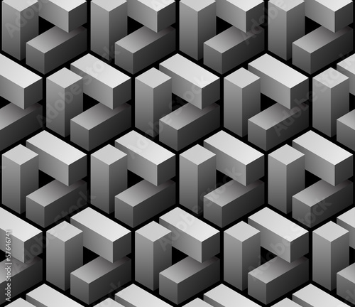 3d seamless pattern