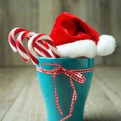 Zuckerstangen zu Weihnachten