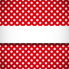 Banner on polka dot pattern
