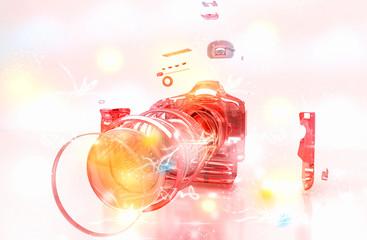 Reflex Componenti Macchina Fotografica Ottiche 3d