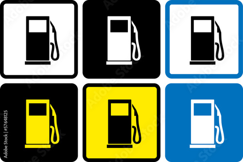 set of gas station icons
