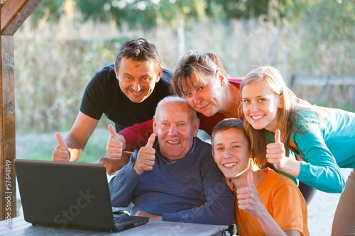 Family thumbs up