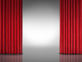 Red Curtain Entertainment Background