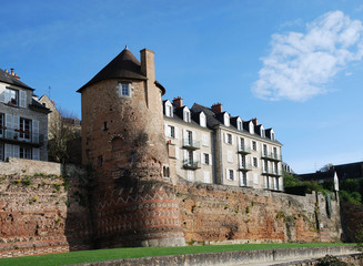Ancient tower of roman boundary wall, Le Mans