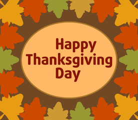 Autumn Thanksgiving  Day background  vector