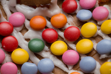 Candy on gingerbread