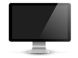 black pc monitor