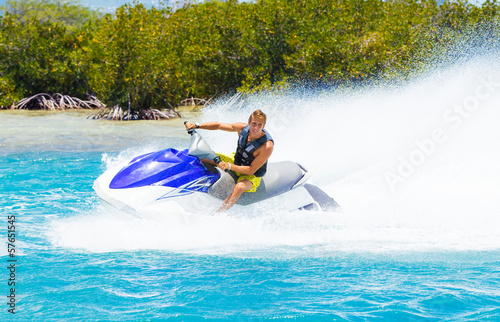 Man on Jet Ski - 57651545