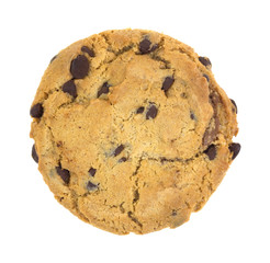 A large hazelnut crème filled chocolate chip cookie