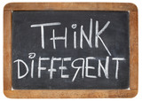 think different on blackboard poster