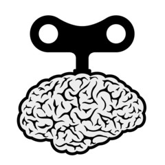 Brain with a wind-up key