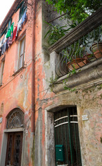 Colorful Monterosso Buildings, Portrait Close-Up