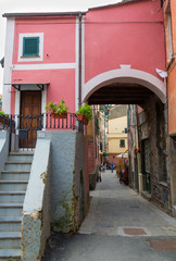 Colorful Monterosso Buildings with Arch