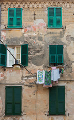 Monterosso Building with Shutters