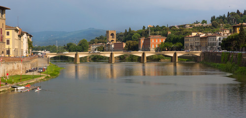 Florence Bridge with Hills, Close-Up