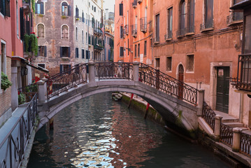 Venice Bridge over Small Canal