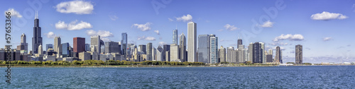 Leinwanddruck Bild Chicago downtown panorama