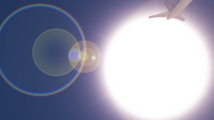 HD - Airplane under Sun