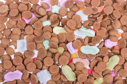 Background of ginger nuts ans sweets.