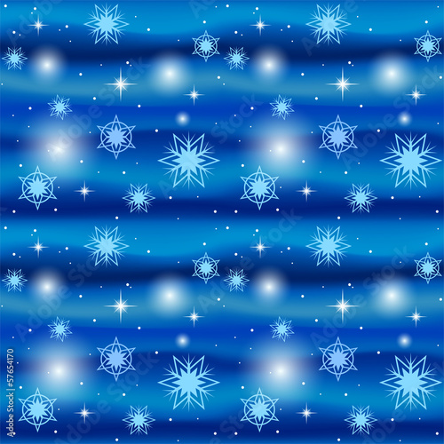 Seamless blue winter background