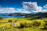 Fototapety Einsames schottisches Küstendorf