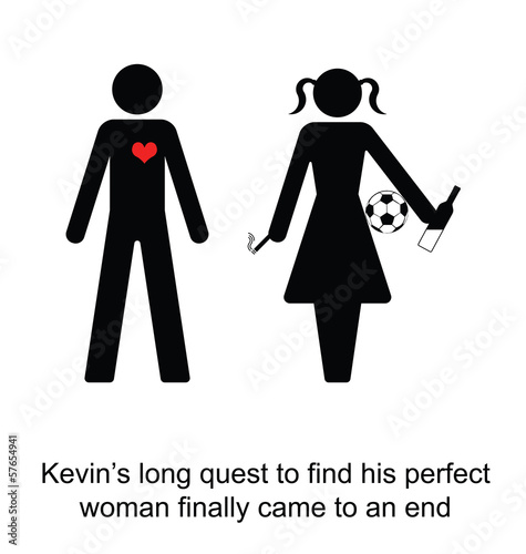 Kevin finally found his perfect woman