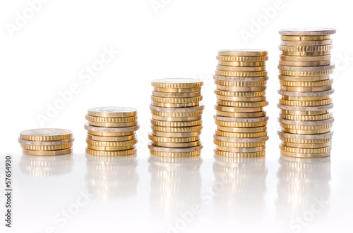 chart of euro currency - concept of increase
