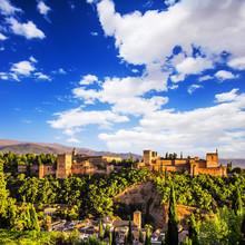 Ancienne forteresse arabe de l'Alhambra, Grenade, Espagne.