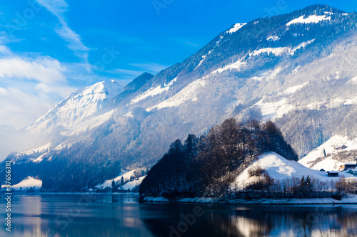 Winter in the swiss alps.