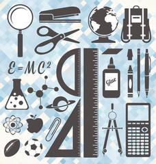 Vector Set: School Icons and Symbols