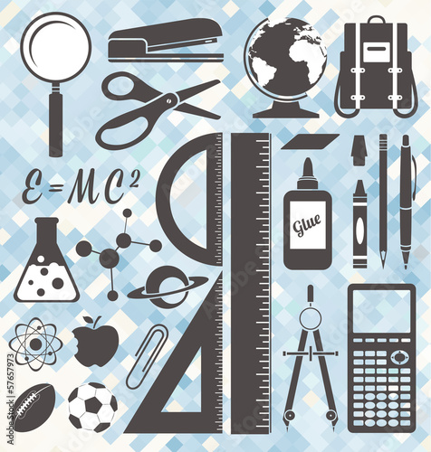 Vector Set: School Icons and Symbols