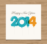 Happy new year card, 2014