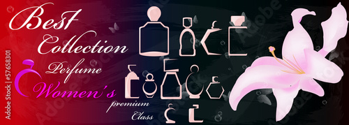 Female perfume premium class.Abstract graphic illustration.