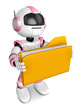 Folder holding the pink robots. Create 3D Humanoid Robot Series.