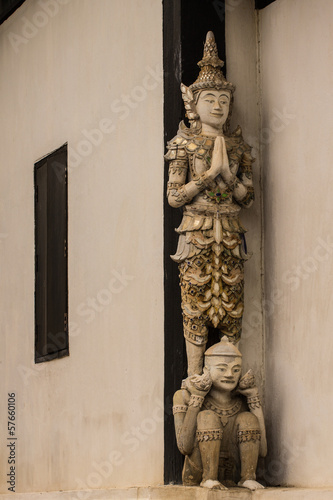 Thai angel as Old Ubosot in Wat Buak Krok Luang , Chiangmai Thai