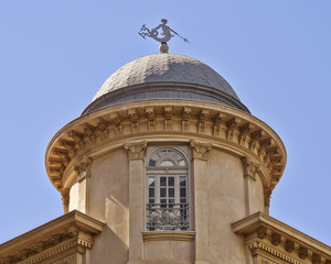 dome detail, with Triton (Greek deity) as wind vane, Athens