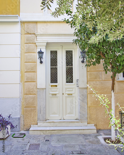 contemporary house entrance