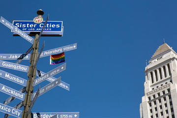 Sister cities of LA sign